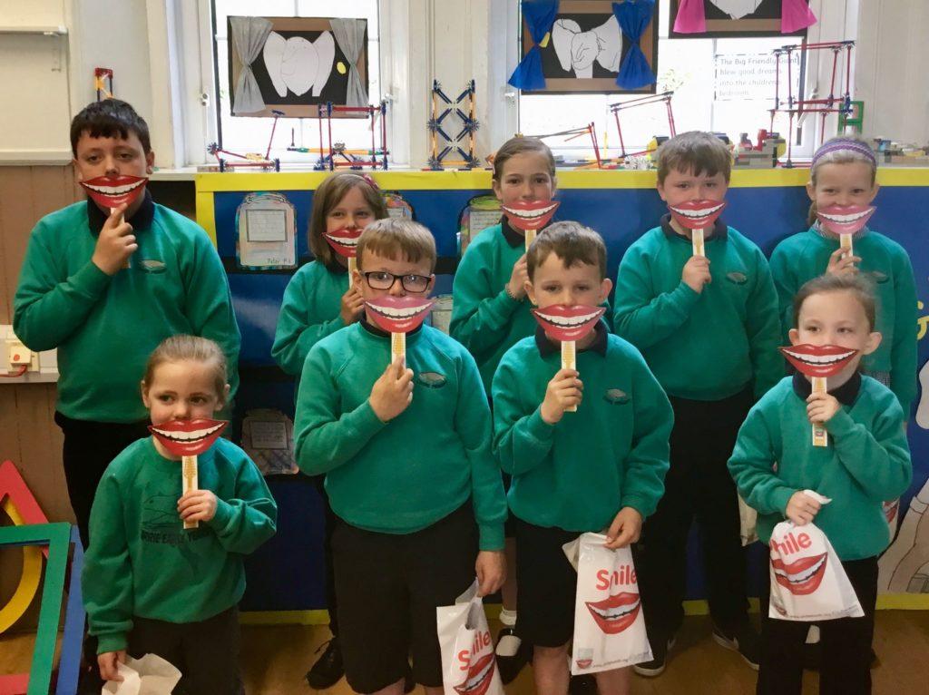 Corrie Primary pupils.