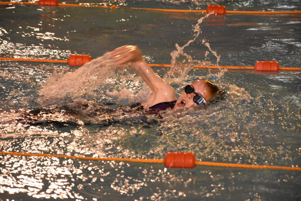 Accustomed to competition some of the swimmers are junior triathlon participants.