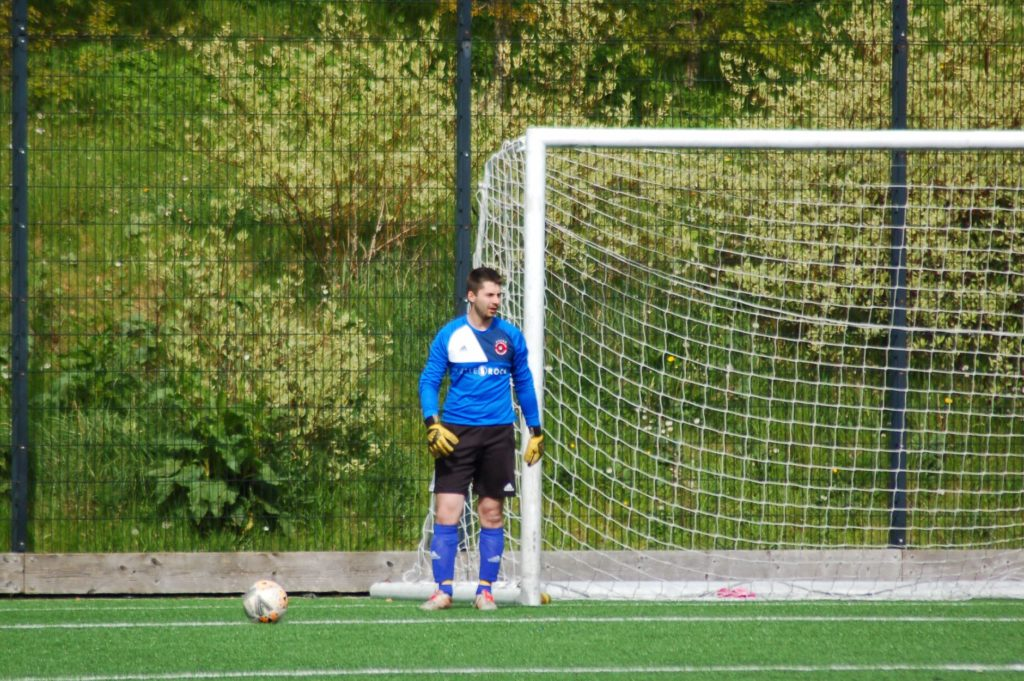 Man of the match David Heenan was awarded the title for a number of outstanding saves.