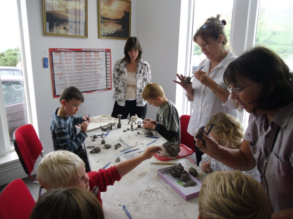 Children enjoy an afternoon of clay modelling at last years exhibition.