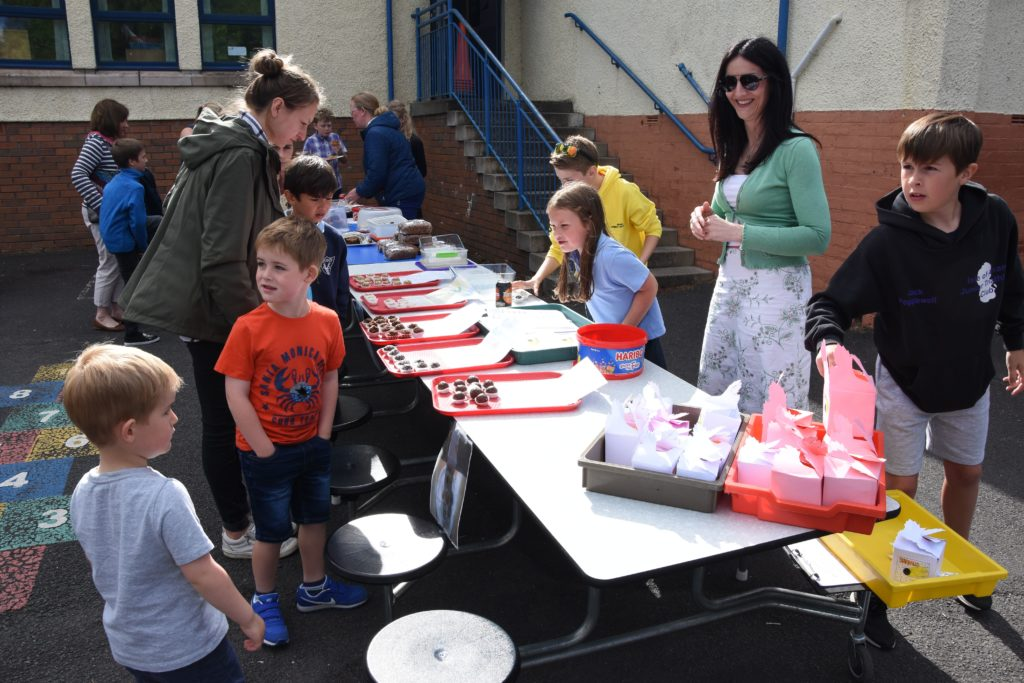 The pupil-run home baking stall rapidly sold out of their popular and tasty treats.