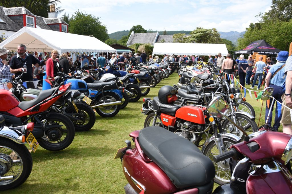 Visitors browse the selection of more than 80 motorcycles which were on display.