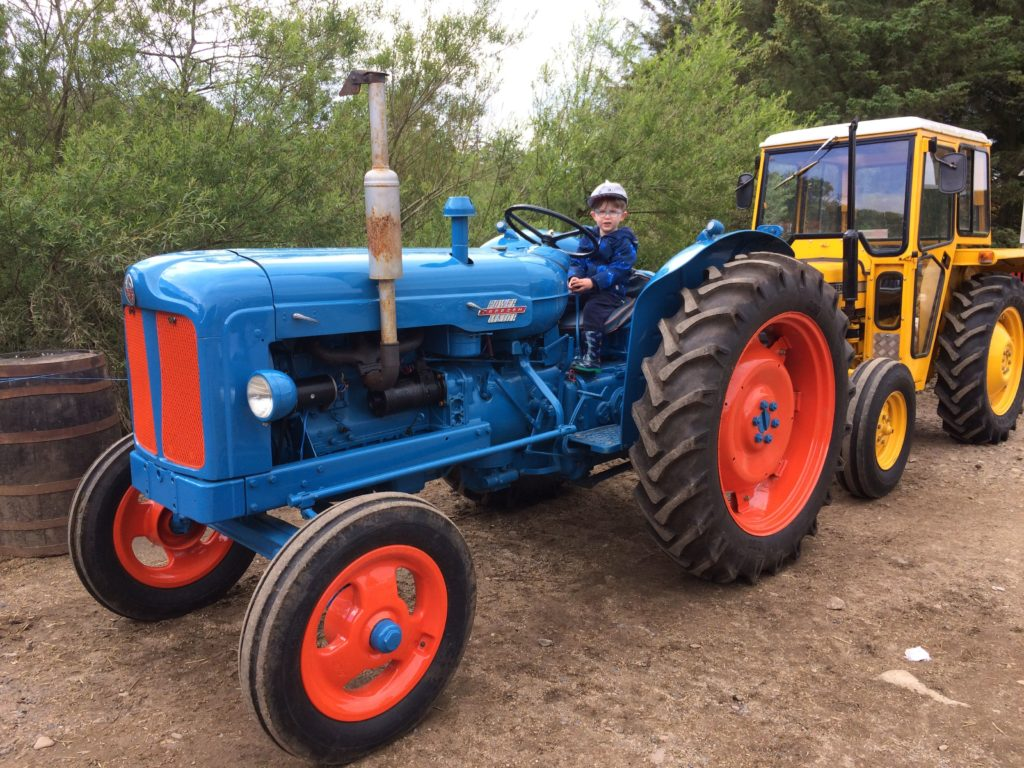 Children enjoyed being able to climb on the tractors and test out some of the equipment.