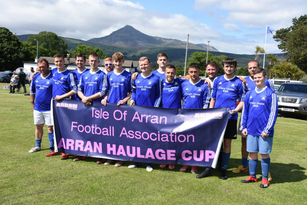 Last year's winner of the Arran Haulage Cup, Brodick were determined to keep the silverware in their trophy case.