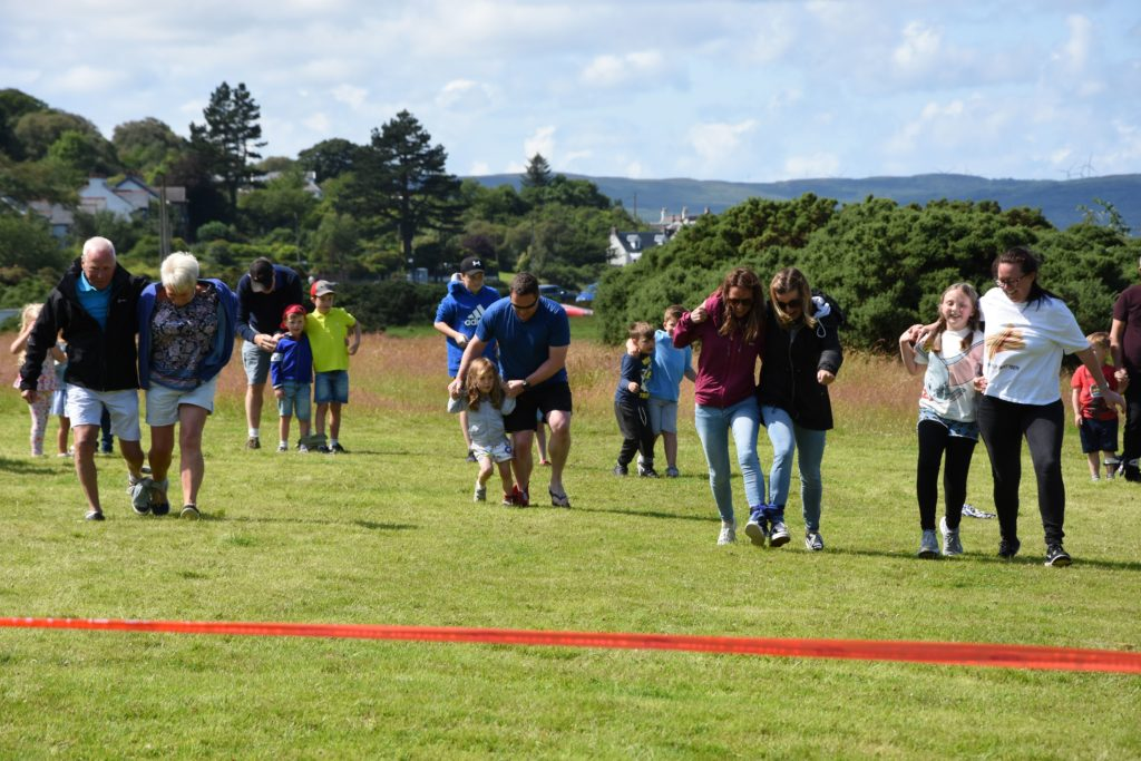 It's a tricky business, competitors try to find their feet in the three-legged race.