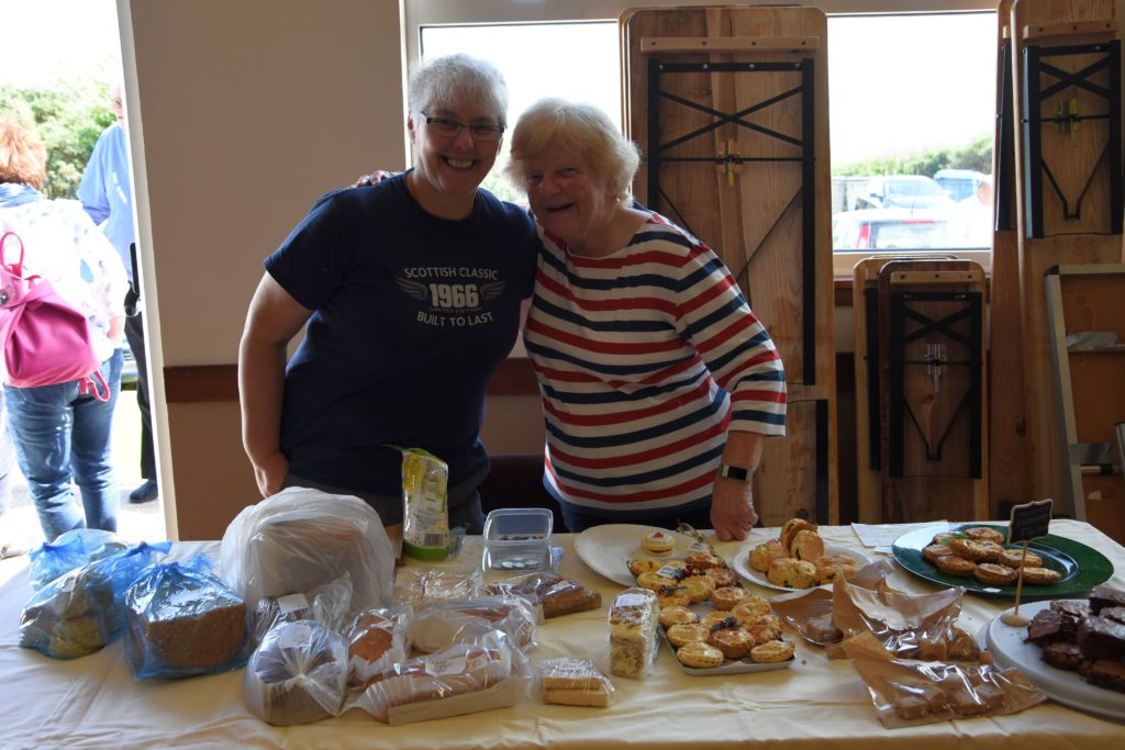 Jenny Maxwell and Elma Stevenson sold an assortment of tasty treats including mince pies, tartlets, brownies and mini loaves.