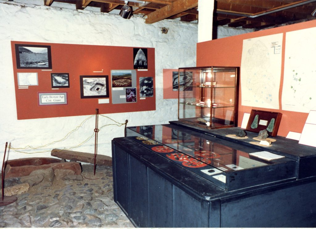 How the museum displays used to look.