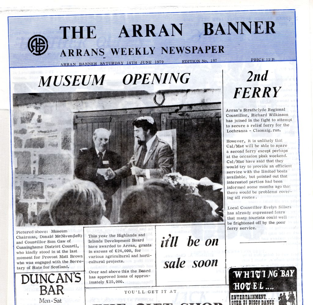 How the Banner reported the museum opening.