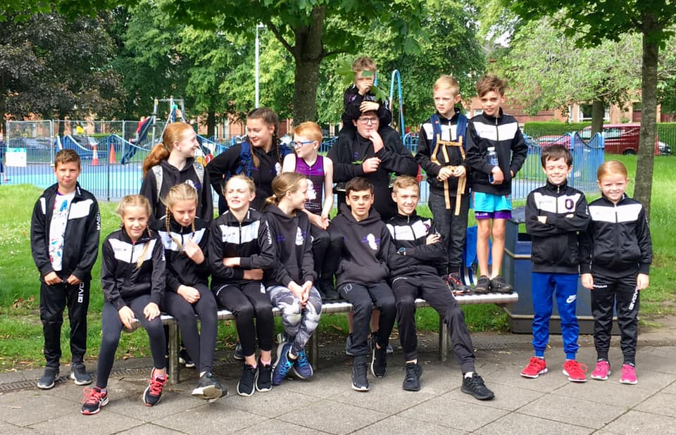 Members of the Arran Junior Triathlon Club who competed at the Scottish National Youth Championships.