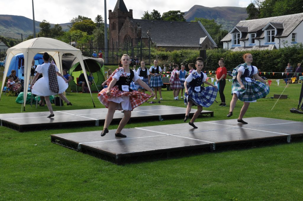 The Highland dancers competition in full swing.