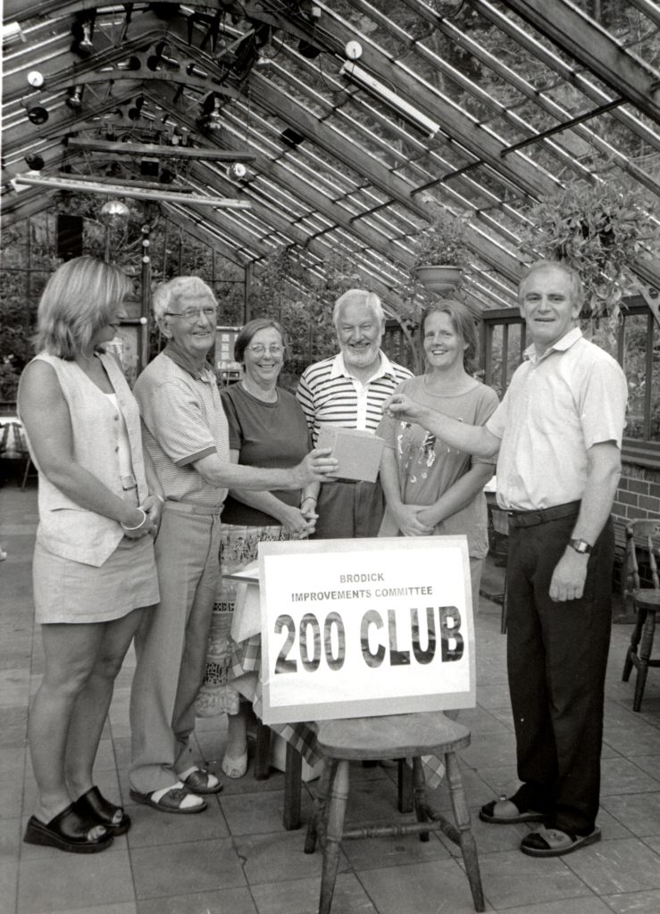 The Brodick Improvements Committee held its first 200 Club draw at the Ormidale Hotel last week. Funds raised from the initiative will be used for a number of projects throughout the village.