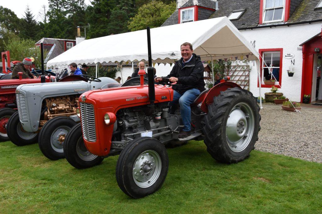 George Dale of Lillielaw Farm, Tarbolton with his immaculately restored 1963 Massey Ferguson 35x.
