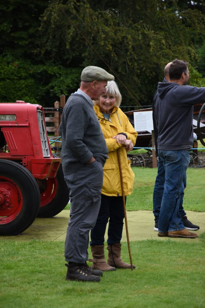 Margie Currie and Alastair Hendry marvel at the machines on display.