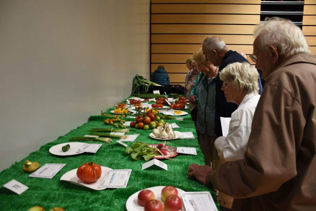 Fruit and vegetables of all varieties are represented at the show.