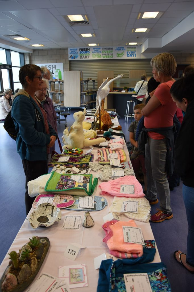 The handcraft section receives a good number of entries each year.