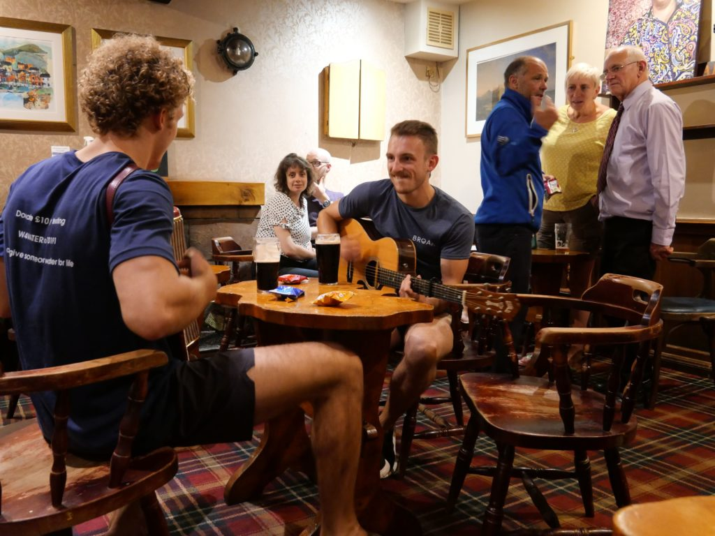 The brothers, who are also keen musicians, perform at the Ormidale Hotel.