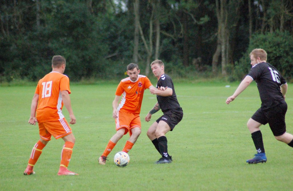 Goal scorer Archie McNicol in action.