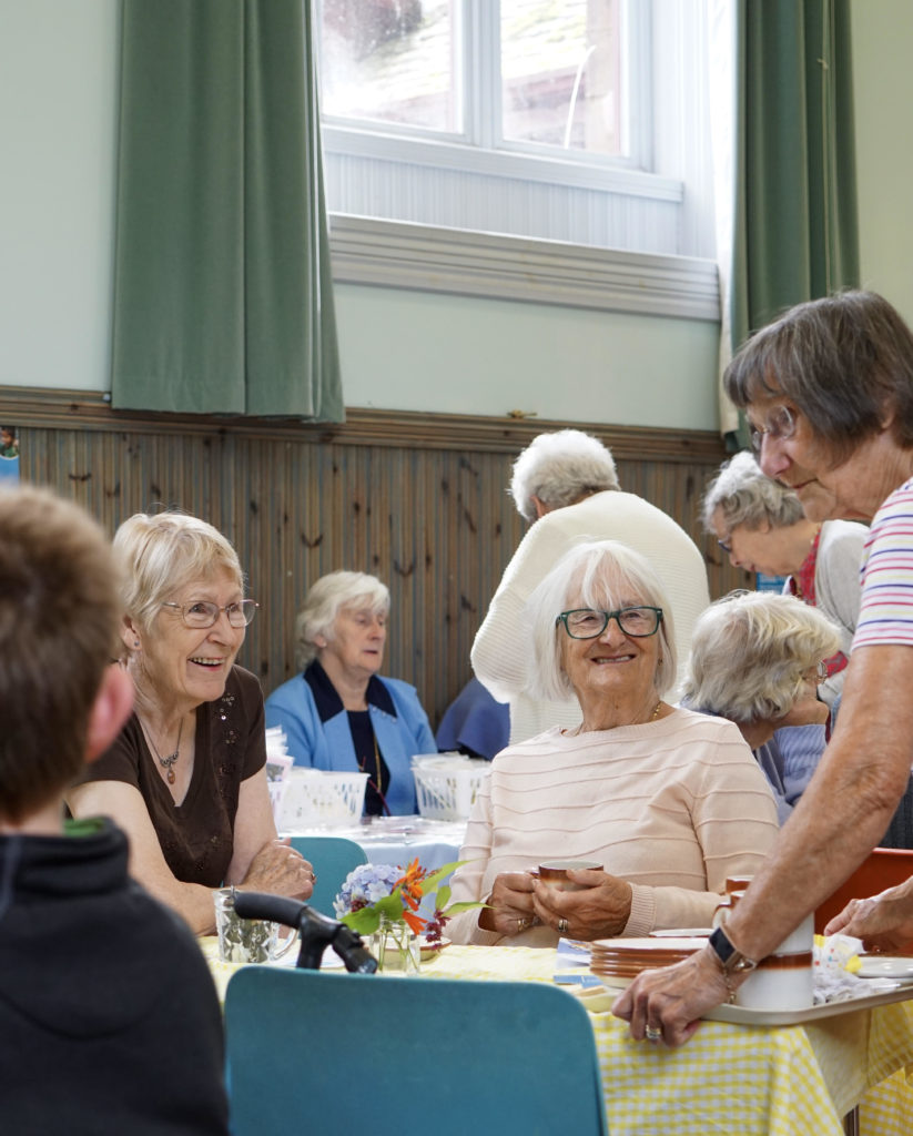 Visitors enjoy a cup of tea, some home baking and conversation.