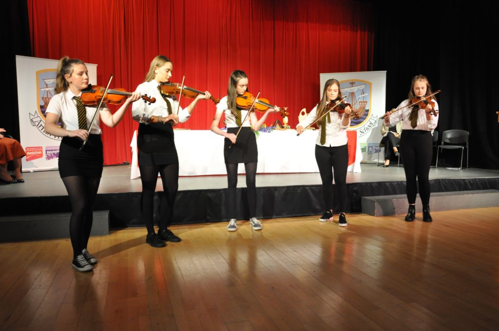 Entertainment was provided with a Scottish fiddle set.