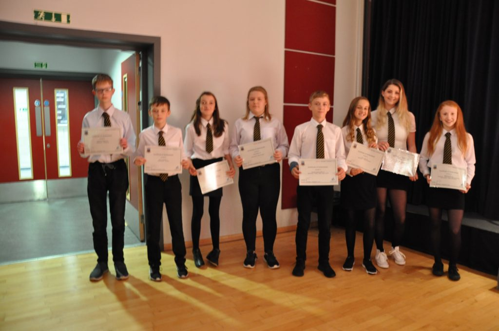 Students in S1 who demonstrated belonging and ambition for attainment, effort and achievement in class.