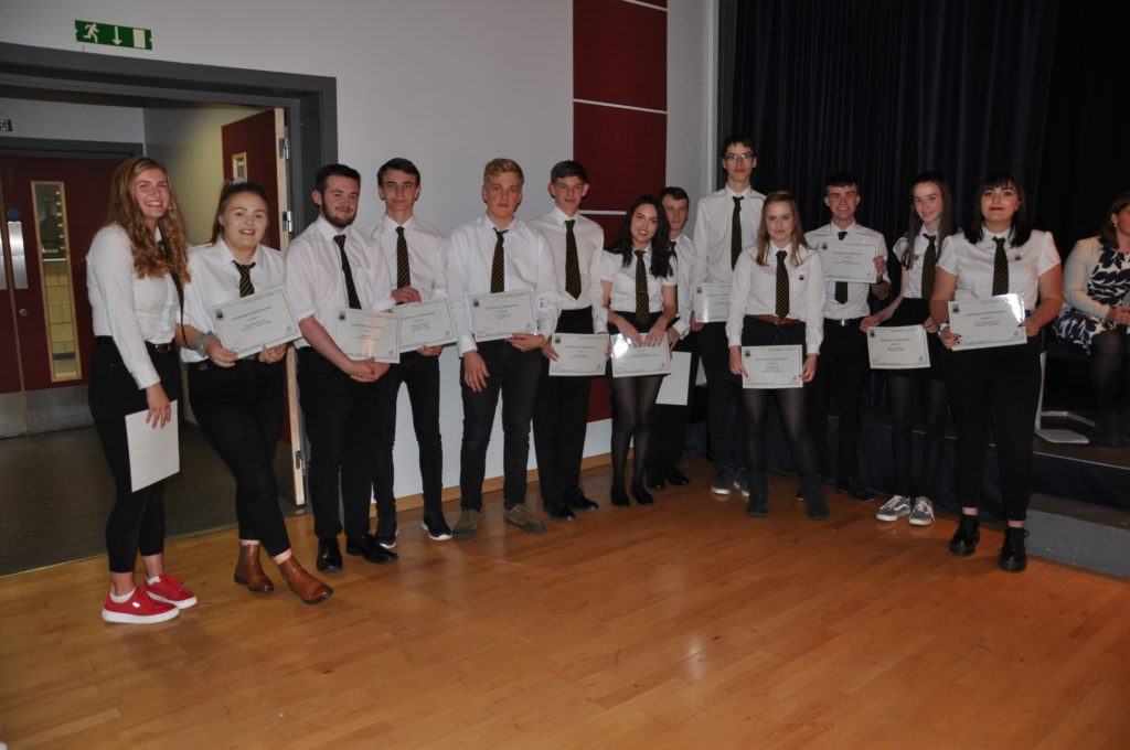 The S5 students who demonstrated belonging and ambition for attainment, effort and achievement in class.