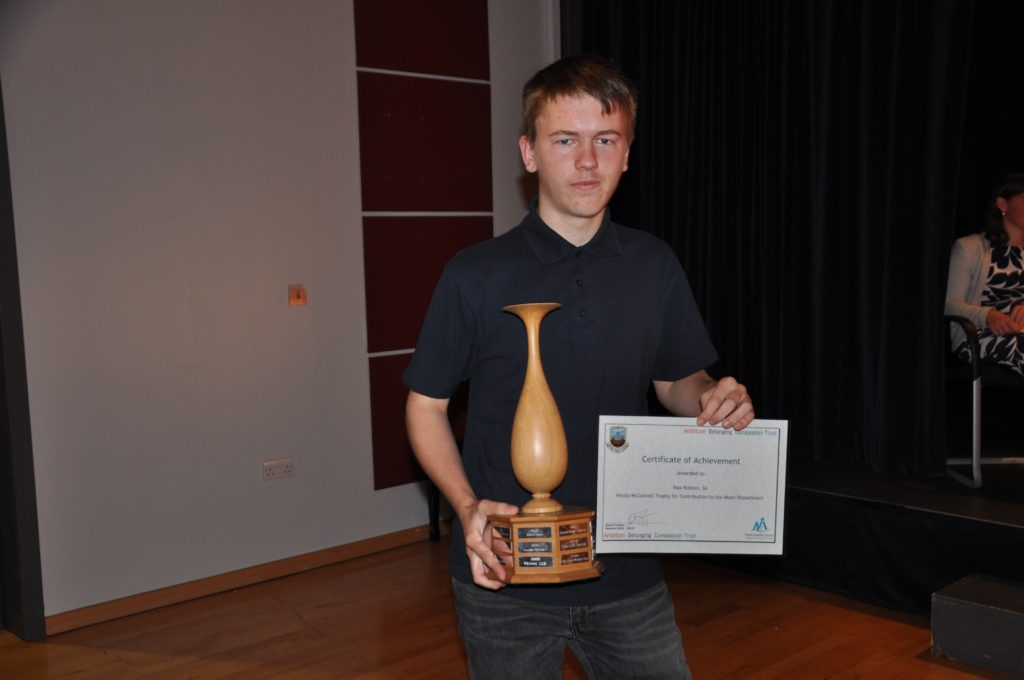 Jamie Thomson is the young musician of the year.
