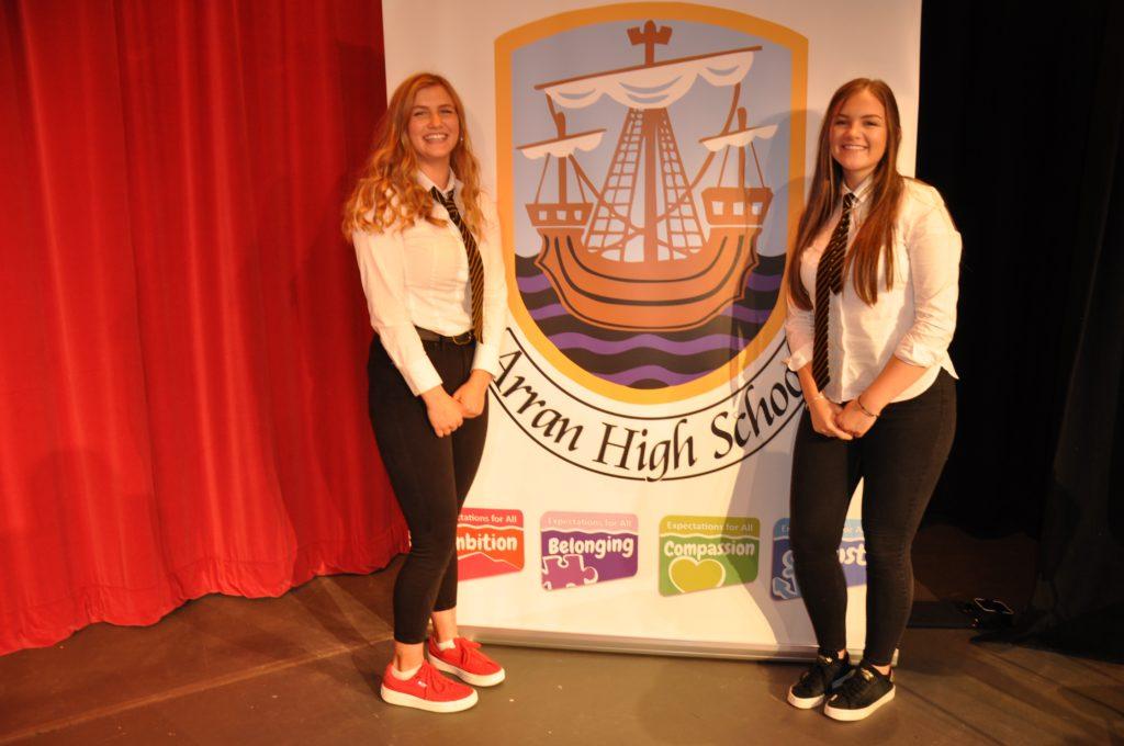 School captains Eilidh Hamill and Elyse Aitken.