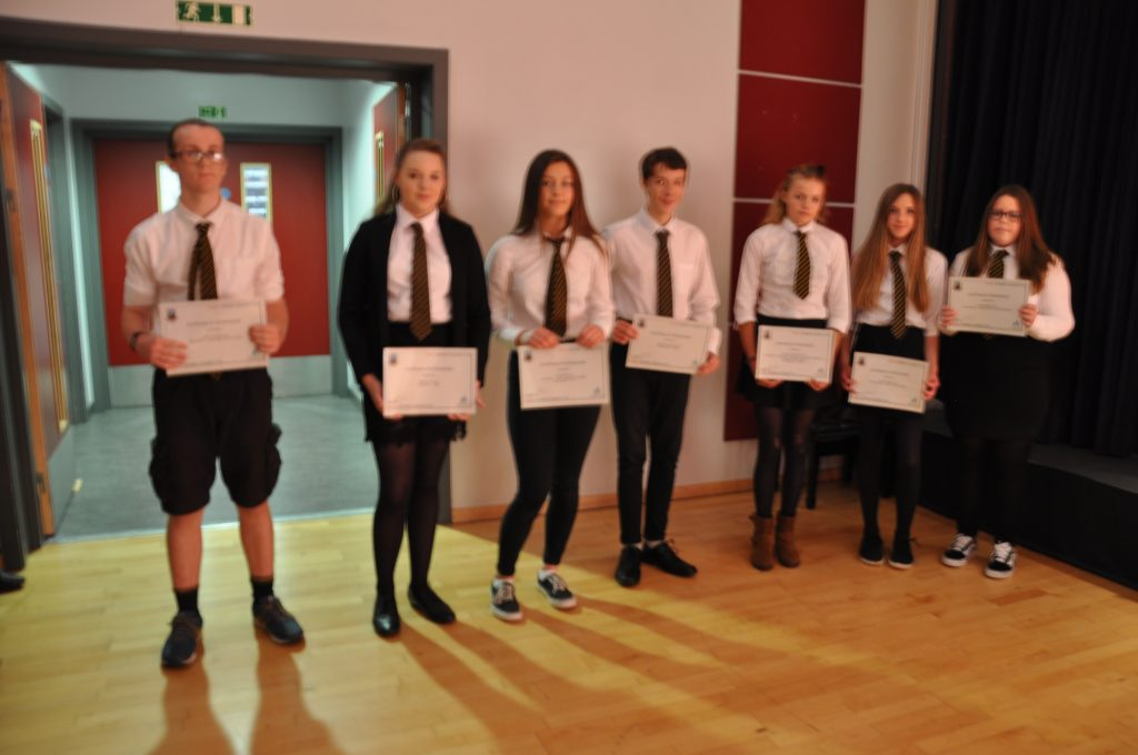 The S2 students who demonstrated belonging and ambition for attainment, effort and achievement in class.