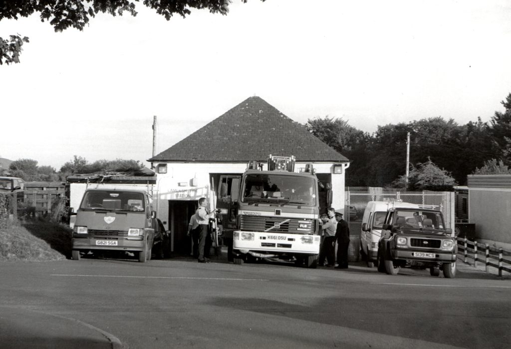 The old Lamlash fire station which has been in use since 1948.
