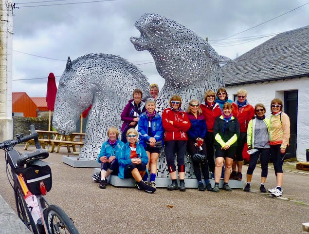 The Belles photographed at the small Kelpies at Ardrisaig.