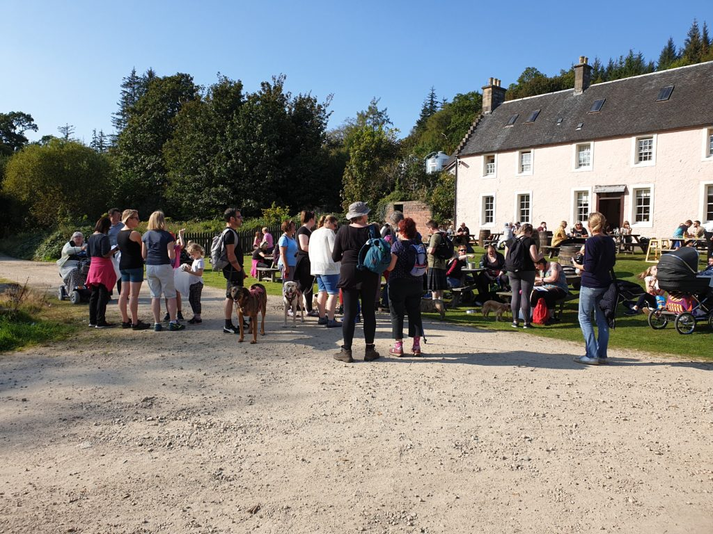 Walkers prepare to set off on the treasure trail.