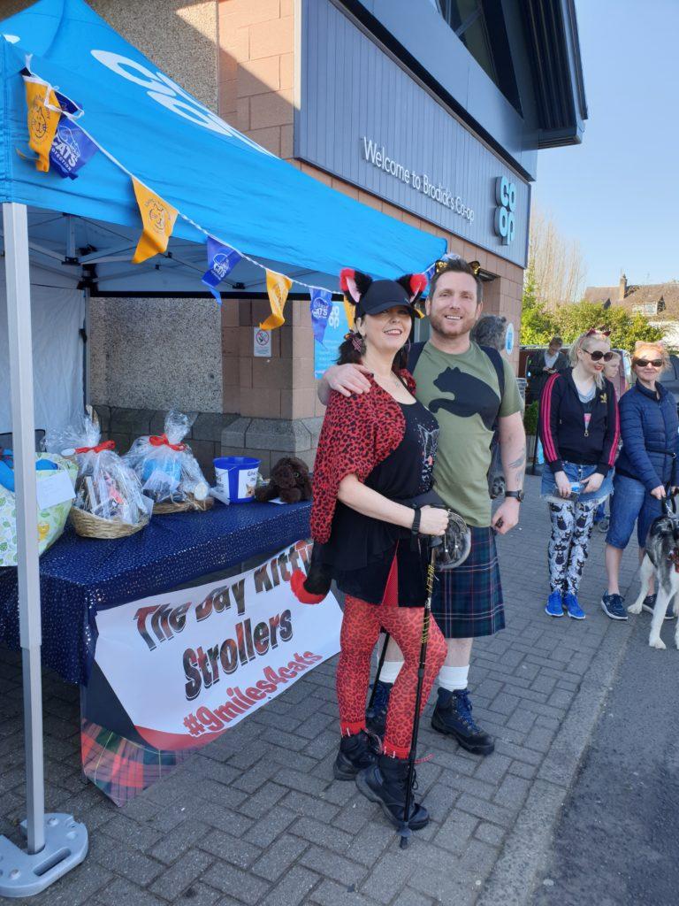 Organiser Pauline Reid-Adamson and her husband Charlie Adamson dressed for the occasion.
