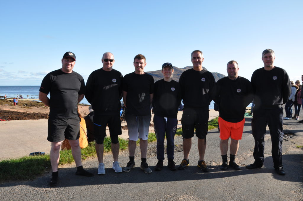 The teams from Scottish Fire and Rescue.