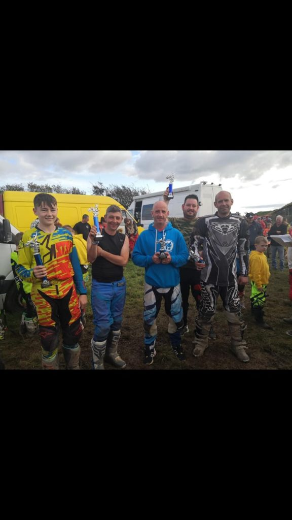 The C class riders with Thomas Gilmore, far left, who finished first.