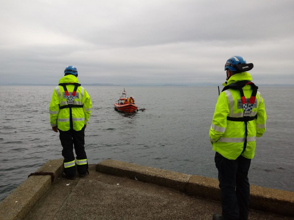 The Arran Coastguard Rescue Team works with a number of related emergency services to provide assistance for people in danger.