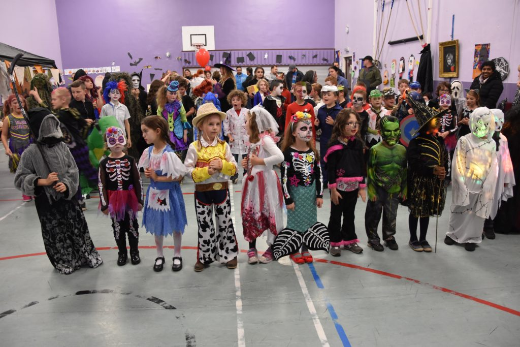 Lamlash P2 pupils included a zombie bride and the Grim Reaper.