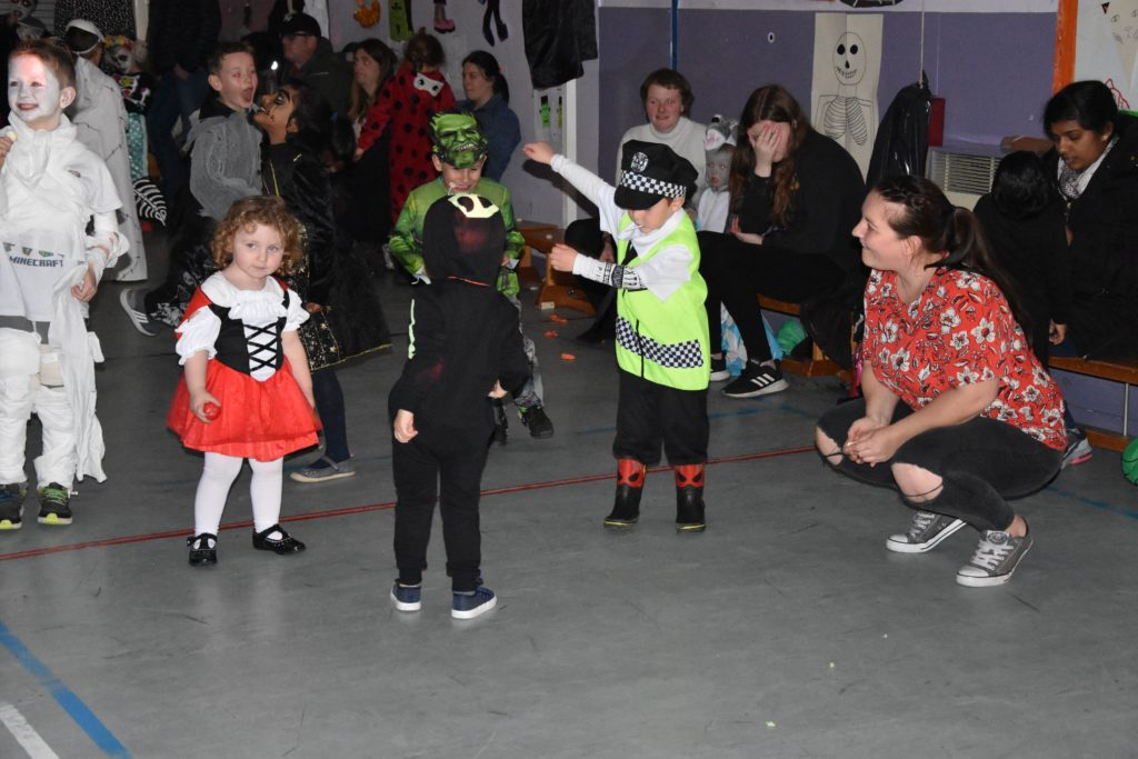 Young Lamlash disco attendees show off their dance moves.