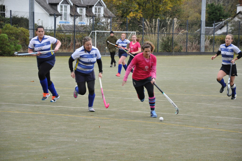 Lorraine Hewie bears down on the Morton goal.