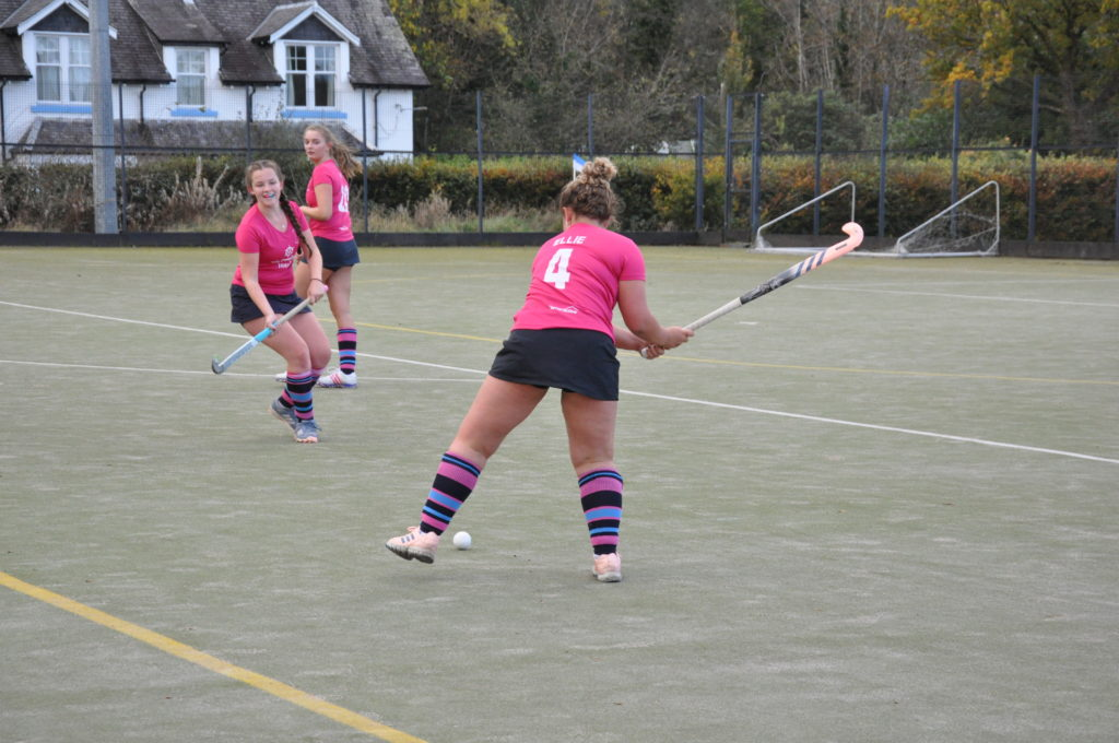 Double dame of the game Ellie Wood clears her defensive lines.