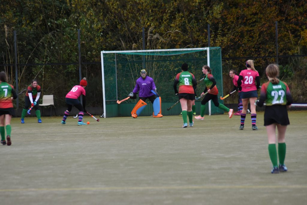 Anne Watts keeps the East Kilbride keeper busy with a number of attempts at goal.