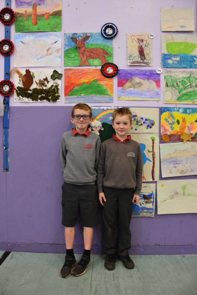 Jack and Matthew, both P4 pupils, shared second place.