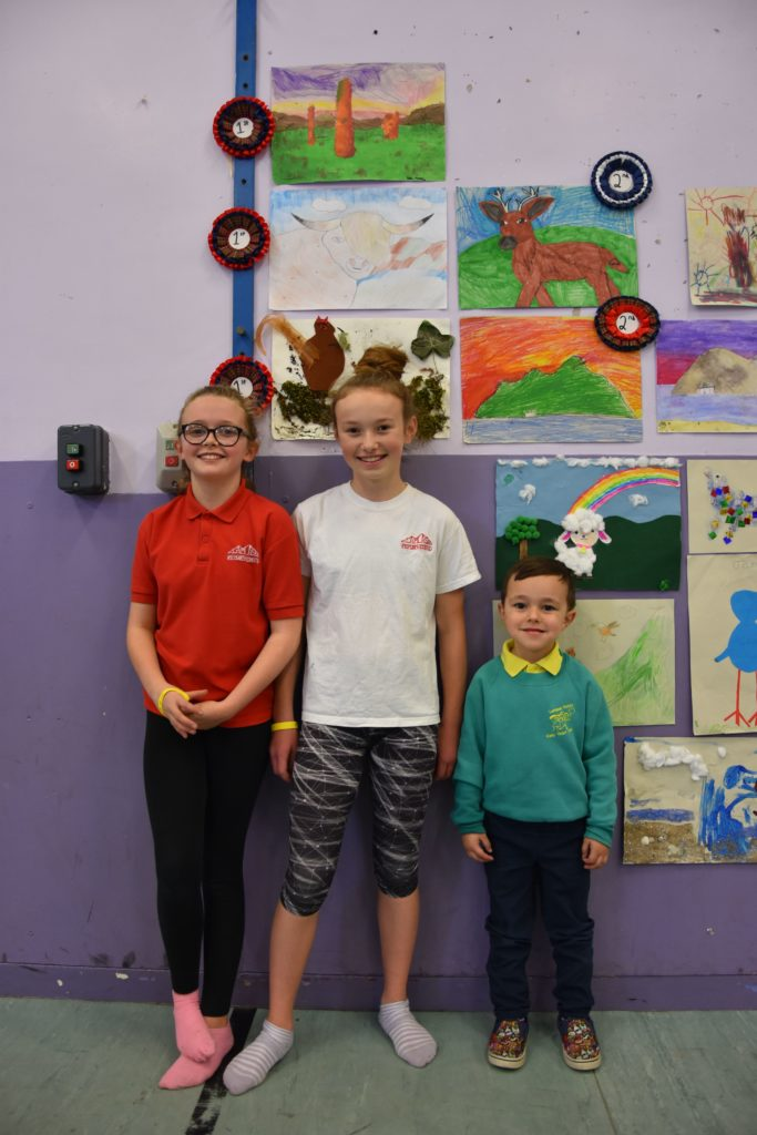 P4 pupils, Beth and Niamh, and Early Years pupil Lucas all took first place.