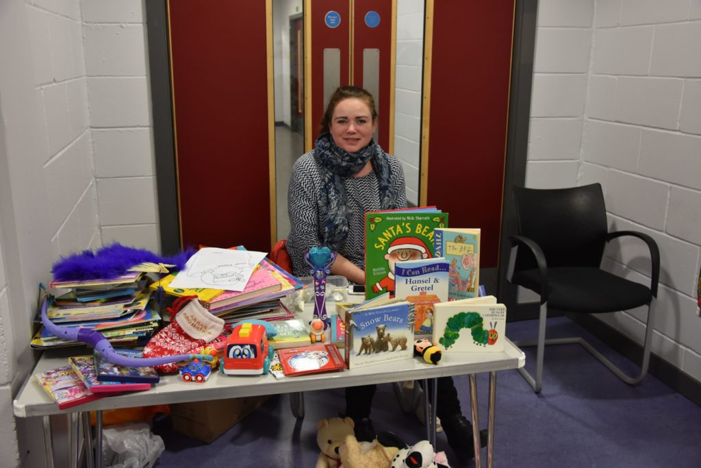 Dani Fleming occupied a corner where she sold second hand toys and books in aid of Lamlash Improvements.
