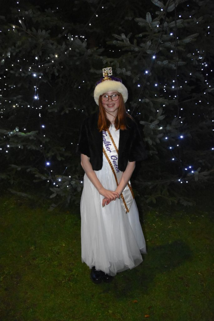 Heather Queen, Imogen Allison, switched on the Christmas tree lights.