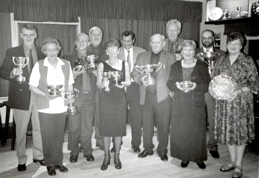 Lamlash Bowling and Tennis Club 1999 prizewinners.