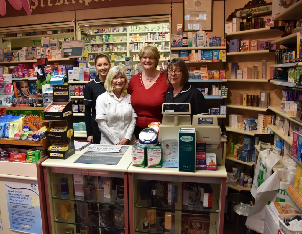 JANUARY. Staff bid their fond farewells to pharmacist Ruth Parker of the Brodick Pharmacy who retired after nearly a decade of serving the community of Arran.