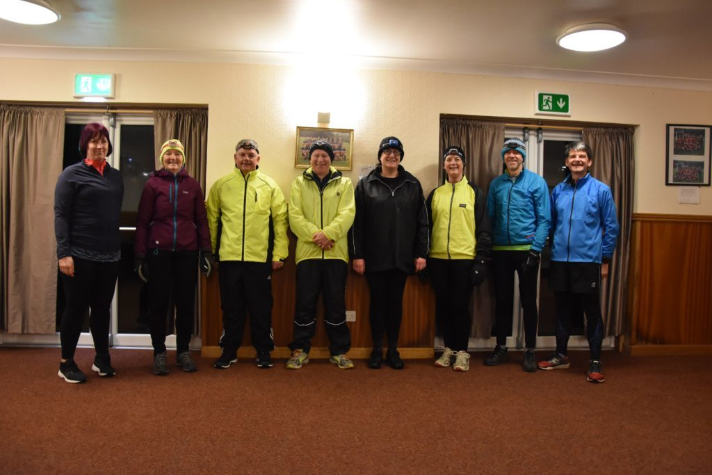 JANUARY. The first group of beginner runners graduate from the Arran Pace makers group led by Lorna Logan and Gordon McInnes.