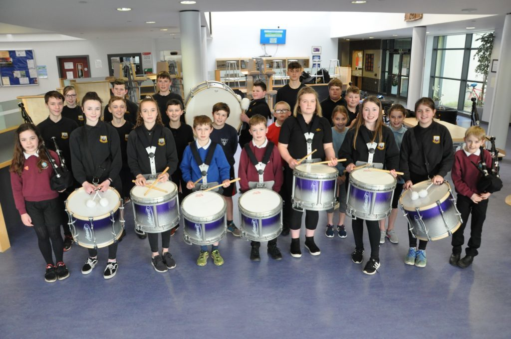 MARCH. It was a proud day for the newly formed Arran Schools Pipe Band who attended their first competition only three months after forming.