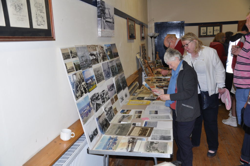 MAY. Visitors pour over memorabilia at the second, and incredibly popular, Whiting Bay Past and Present exhibition.