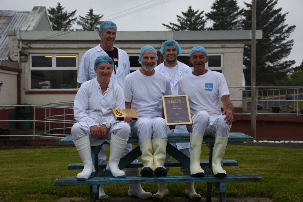 JUNE. The team at Torrylinn Creamery, Allan Nicol, Richard Scott, Stewart Kilpatrick, Philip Ward and Lisa Edwards, won a Scotland Food and Drink excellence award for their vintage cheddar.